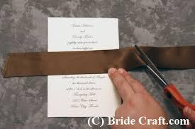 elegant wedding invitation Ribbon On Wedding Invitation how to make this elegant wedding invitation! tying a ribbon on a wedding invitation