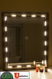mirror with lighting. amazoncom make up mirror led light warm white color with dimmer u0026 ul power adapter musical instruments mirror with lighting
