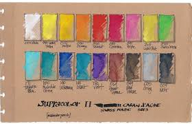 Supracolor Color Chart Caran Dache Watercolor Pencil Charts Library Wetcanvas