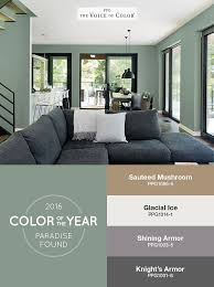 the ppg voice of color 2016 paint color of the year paradise found is balanced living room