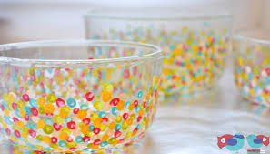 How To Decorate A Bowl Hand Dotted Glass Bowls Tutorial Diy Pinterest 15