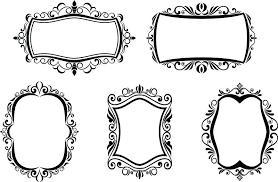 antique white frames antique vintage frames isolated on white for design stock vector large vintage white