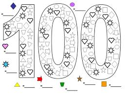 Coloring Pages Ideas Days Of School Coloring Pages Ideas 100th Day