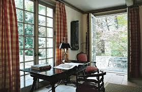 Office drapes Modern Curtains For Office Plaid Curtains Home Office Traditional With Glass Doors Sheer Curtains And Drapes Office Curtains Vertical Blinds Tall Dining Room Table Thelaunchlabco Curtains For Office Plaid Curtains Home Office Traditional With