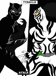 white tiger and black panther marvel. Plain Panther Black Panther And White Tiger Colored By Breezykiid94  With And Marvel N