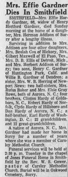 Obituary for Effie Gardner (Aged 80) - Newspapers.com