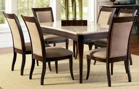 contemporary marble top 8 piece dining table and chair set marble dining room furniture