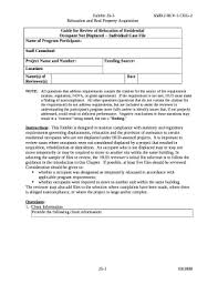 Case File Template Occupant Not Displaced Individual Case File Doc Template