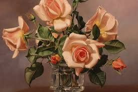 roses oil painting by albert williams walton house antiques