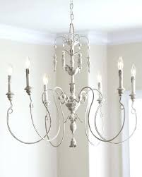 distressed white wood chandelier wood