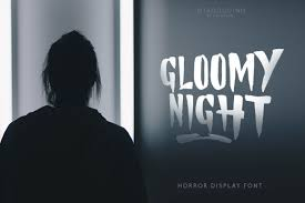 964,164 downloads (204 yesterday) 8 comments free for personal use. Gloomy Night Font By Khurasan Creative Fabrica En 2020