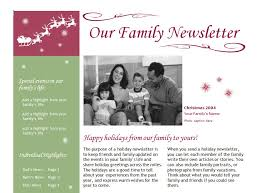 Family Newsletter Templates Www Picswe Com