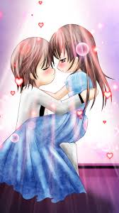 anime couple love dance