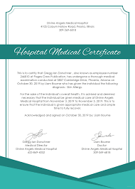 certificate template pages free hospital medical certificate template in microsoft word
