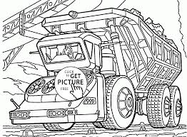Biggest Dump Truck Coloring Page For Kids Transportation Coloring