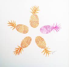 popular items for pineapple wall art on original handmade