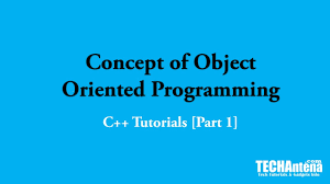 Basic Concep Basic Concept Of Object Oriented Programming C Tutorials 1