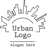 urban decay logo vector. urban logo template decay vector