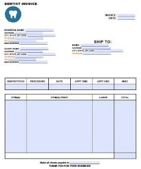 Bill Formats In Word Dental Procedure Template Word And Other Formats