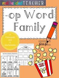 Word Family Coloring Pages Op Word Family Worksheets Word Families Family Worksheet