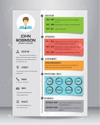 Job Cv Of Cv Template Layout Template In A4 Formaat Royalty Vrije