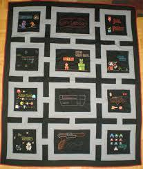 NES Quilt Celebrates Nostalgic Diversity - Technabob & nes nintendo quilt craft custom pixel 8-bit Adamdwight.com