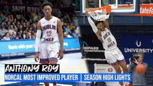 Anthony Roy | 6'5 2020 Dublin HS | Most improved Player in Norcal 2020 |  Senior Season Highlights - YouTube