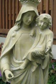 42 fiberglass outdoor garden statue mary queen of heaven