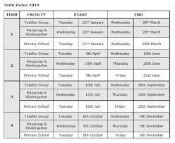 2019 Term Dates - Imhoff Waldorf School