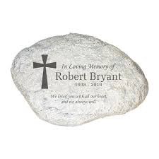 giftsforyounow personalized engraved memorial garden stone 11 x 8 x 1 5 thick laser etched stone with personalized name and date all weather durable