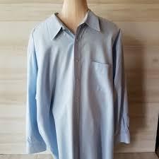 Comfort Zone Mens Blue Button Down Shirt 34 35