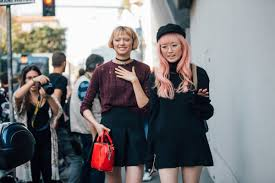 models katie moore and fernanda ly after the ermanno scervino spring 2017 show in milan