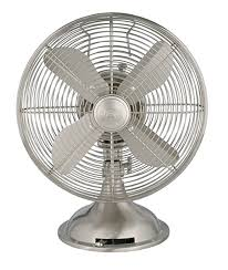 com hunter 12 retro table fan in brushed nickel home kitchen