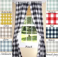 Plaid Kitchen Curtains Valances Window Valance Etsy