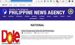 On Story Dole News Pineapple Agency's Labor Philippine Uses Logo Dep't