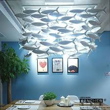 simple fashion dining room living room chandelier creative ceramic lamp decorative lighting lamps fish s