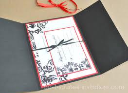 Black And White Invitation Paper Elegant Black Red And White Wedding Invitation