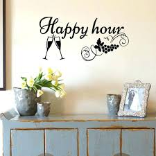 kitchen wall decals happy hour stickers home decor wine glass and g decorations for walls australia