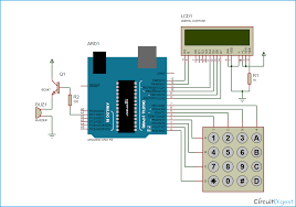 digital code lock project using arduino electronic code lock circuit diagram