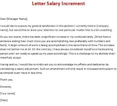 Salary Increment Letter Format Letters Font In Salary Increment