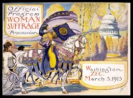artifact walls the national w suffrage parade  w suffrage procession 1913 official program courtesy of national w s party collection sewall