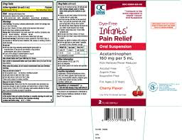 Infant Acetaminophen New Dosage Chart Pain Relief Infants Dye Free Suspension Quality Choice