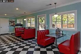 Homes For Sale With A SStyle Diner Inside HuffPost - 1950s house interior