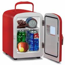 office mini refrigerator. 4 liter portable personal mini fridge cooler warmer for car home and office red refrigerator f