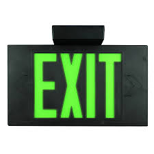 Exit Lights At Lowes Limelite Green Electroluminescent Hardwired Exit Light On
