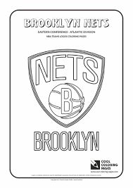 Small Picture Cool Coloring Pages NBA Teams Logos Brooklyn Nets logo