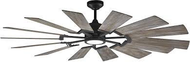 monte carlo prairie 62 windmill ceiling fan 14prr62agpd with led light 695637136019