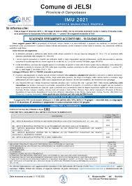 Avviso – Scadenza versamento acconto IMU – 16 Giugno 2021