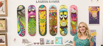Skateboards Designs Skateboard Artist Profile Lauren Ramer