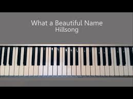 What A Beautiful Name Hillsong Piano Tutorial Youtube